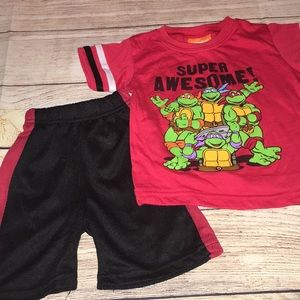 🔥4/$15🔥 boys ninja turtle outfit 18 months